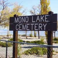 Mono Lake Cemetery sign