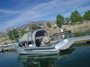Sheriff Safety Officer Gary Williams on Crowley Lake