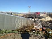 Photo of big rig accident