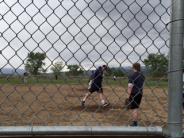 Photos of Sheriffs on baseball field
