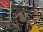 Deputy Hernandez shopping with kids
