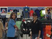 Probation Assistant Casabian shopping with kids