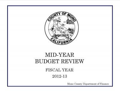 2012-13 Mid-Year Budget