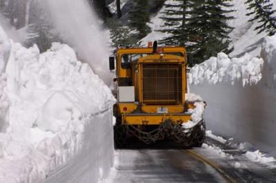 County Snow Removal near Tioga Pass