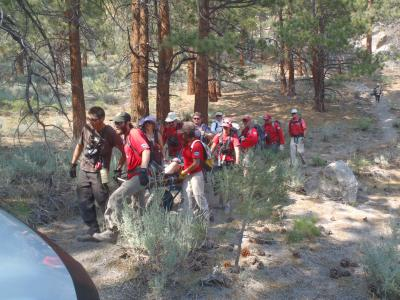 Aid to an injured climber in the Clark Canyon area
