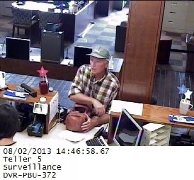 Photo of bank robber suspect