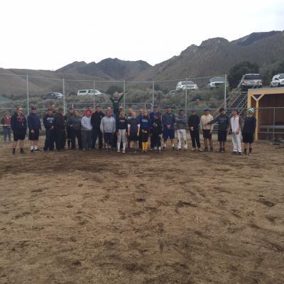 Photo of Sheriffs on baseball field