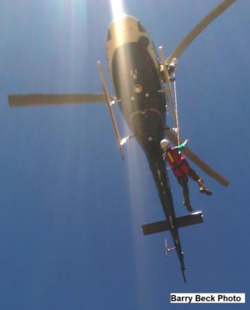 Search and Rescue Team lends aid to injured hiker