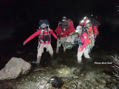SAR Team lends aid to injured backpacker