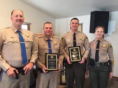 Photo of Sheriff's receiving award