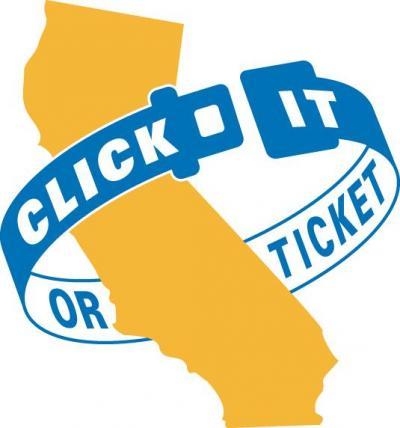 CalTrans Click It or Ticket logo